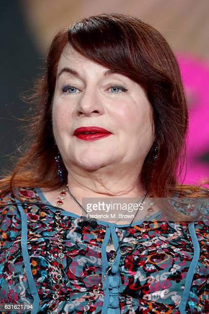 Director Allison Anders of the series 'Beaches' speaks onstage during the Lifetime portion of the 2017 Winter Television Critics Association Press...