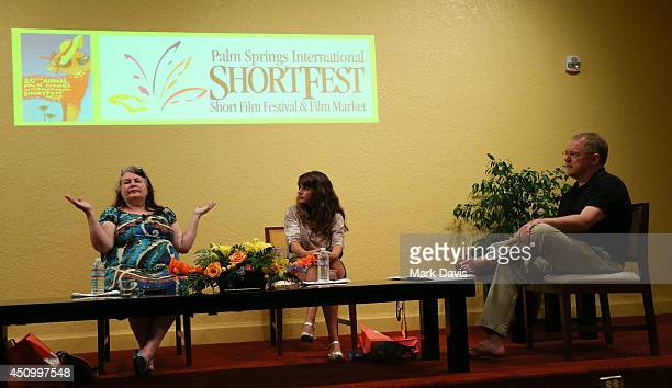 Director Allison Anders singer Tiffany Anders and moderator John Anderson attend the 'Master Class Music in Film with Allison and Tiffany Anders'...