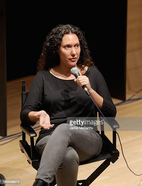 Director Allison Berg attends the Spotlight On Documentary Filmmakers panel during the 51st New York Film Festival at Elinor Bunin Munroe Film Center...