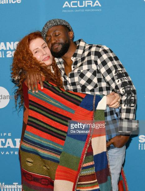 Director Alma Har'el and actor Byron Bowers attend the Honey Boy Premiere during the 2019 Sundance Film Festival at Eccles Center Theatre on January...