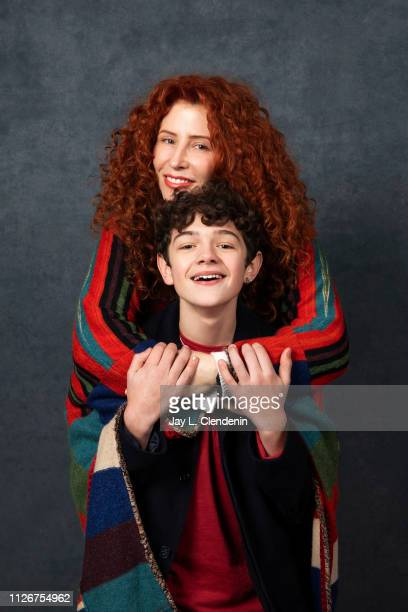 Director Alma Har'el and actor Noah Jupe from 'Honey Boy' are photographed for Los Angeles Times on January 25 2019 at the 2019 Sundance Film...