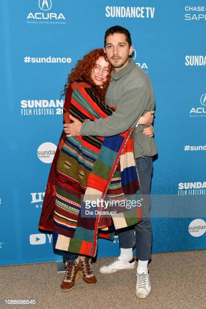Director Alma Har'el and actor Shia LaBeouf attend the Honey Boy Premiere during the 2019 Sundance Film Festival at Eccles Center Theatre on January...