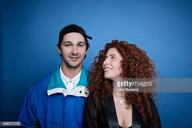 Director Alma Har'el and actor Shia LaBeouf pose for a portrait at the Tribeca Film Festival on April 15 2016 in New York City