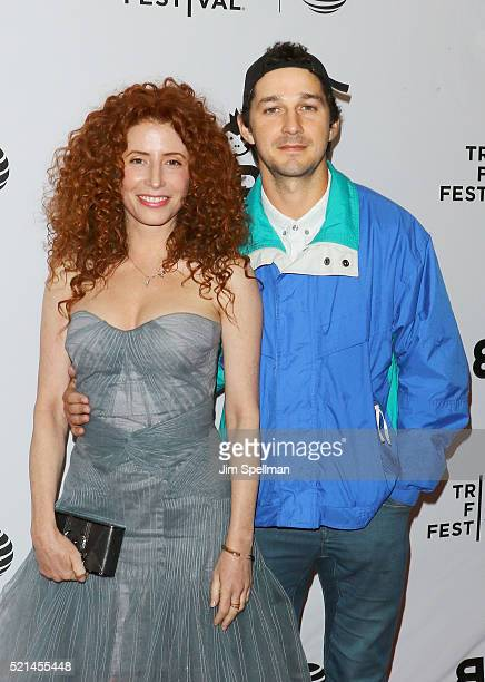 Director Alma Har'el and executive producer/actor Shia LaBeouf attend the 2016 Tribeca Film Festival LoveTrue premiere at SVA Theatre on April 15...