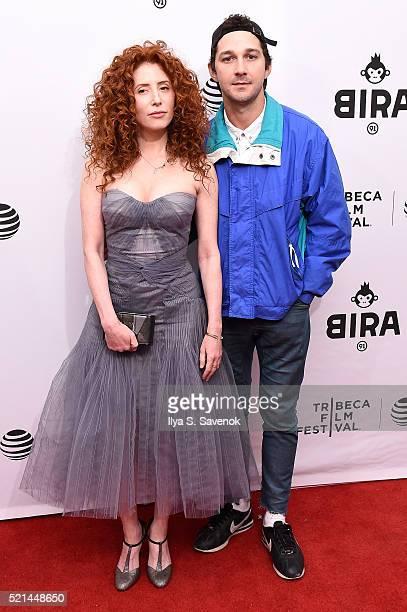 Director Alma Har'el and Shia LaBeouf attend LoveTrue Premiere 2016 Tribeca Film Festival at SVA Theatre 1 on April 15 2016 in New York City