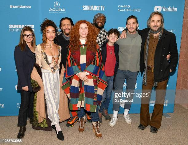 Director Alma Har'el poses with actors Laura San Giacomo FKA Twigs Clifton Collins Jr Byron Bowers Noah Jupe Shia LaBeouf and Craig Stark at the...