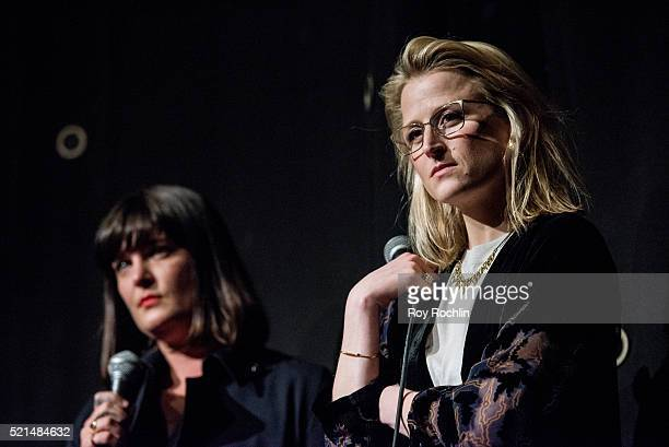 Director Amanda Marsalis and Actress Mamie Gummer attend the 'Echo Park' New York screening and QA at IFC Center on April 15 2016 in New York City