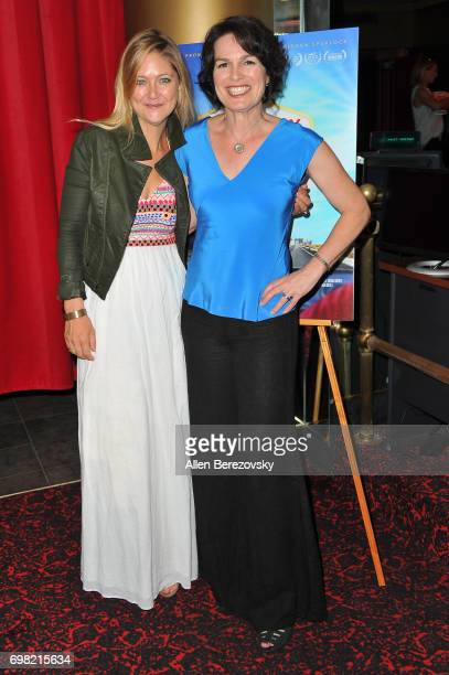 Director Amanda Micheli and producer Serin Marshall attend the Premiere of Runaway Films' 'Vegas Baby' at Ahrya Fine Arts Theater on June 19 2017 in...