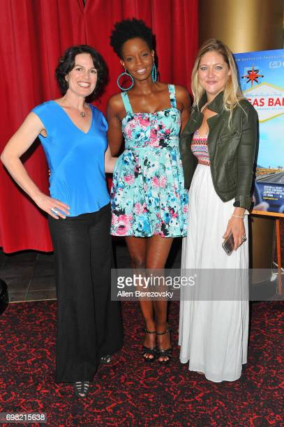 Director Amanda Micheli model Tomiko Fraser Hines and producer Serin Marshall attend the Premiere of Runaway Films' 'Vegas Baby' at Ahrya Fine Arts...