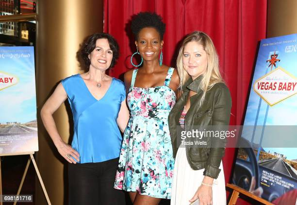 Director Amanda Micheli model/actress Tomiko Fraser Hines and producer Serin Marshall attend the premiere of Runaway Films' 'Vegas Baby' at Ahrya...