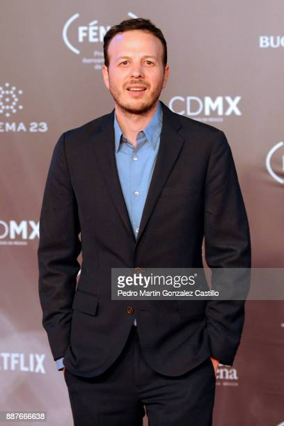 Director Amat Escalante poses during Fenix Iberoamerican Film Awards 2017 at Teatro de La Ciudad on December 06 2017 in Mexico City Mexico