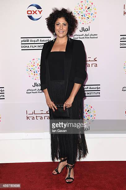 Director Amber Fares attends the Opening Night and Speed Sisters Premiere during the Ajyal Youth Film Festival 2014 on December 1, 2014 in Doha,...
