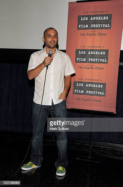 """Director Amir Bar-Lev speaks at the premiere of """"The Tillman Story"""" during the 2010 Los Angeles Film Festival at Regal Cinemas at LA Live Downtown on..."""