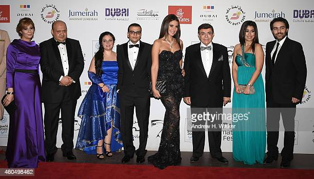 Director Amir Ramses and actors Dorra Samir Sabri Ayten Amer and Sherif Ramzy attend the 'Cairo Time' premiere during day six of the 11th Annual...