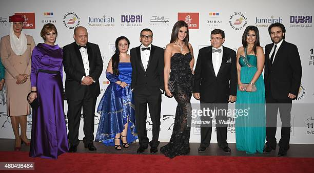 """Director Amir Ramses and actors Dorra, Samir Sabri, Ayten Amer and Sherif Ramzy attend the """"Cairo Time"""" premiere during day six of the 11th Annual..."""