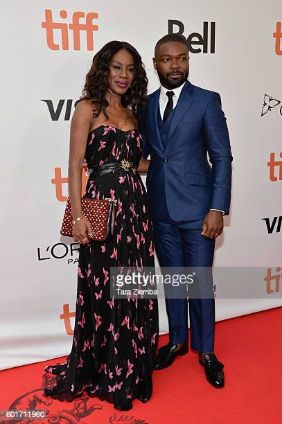 Director Amma Asante and actor David Oyelowe attend the premiere of 'A United Kingdom' at the 2016 Toronto International Film Festival at Roy Thomson...