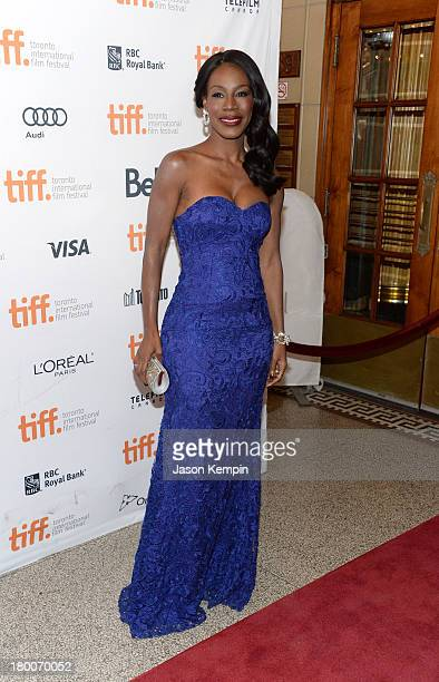 Director Amma Asante arrives at the 'Belle' Premiere during 2013 Toronto International Film Festival at The Elgin on September 8 2013 in Toronto...
