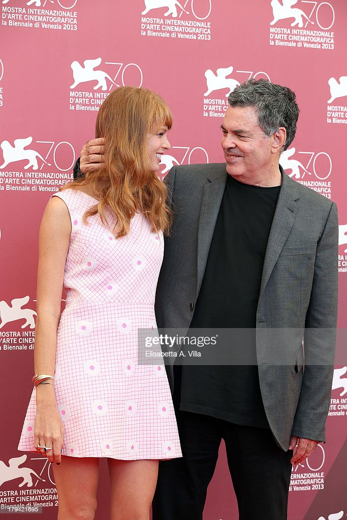 Director Amos Gitai and actress Yuval Scharf attend the 'Ana Arabia' Photocall during the 70th Venice International Film Festival at Palazzo del Casino on September 3, 2013 in Venice, Italy.