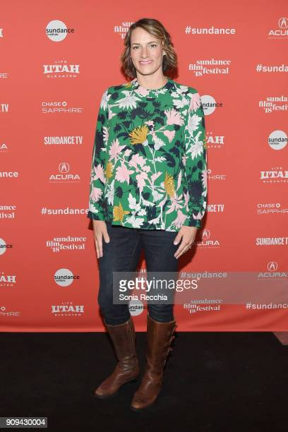 Director Amy Adrion attends the 'Half The Picture' Premiere during the 2018 Sundance Film Festival at Prospector Square Theatre on January 23 2018 in...