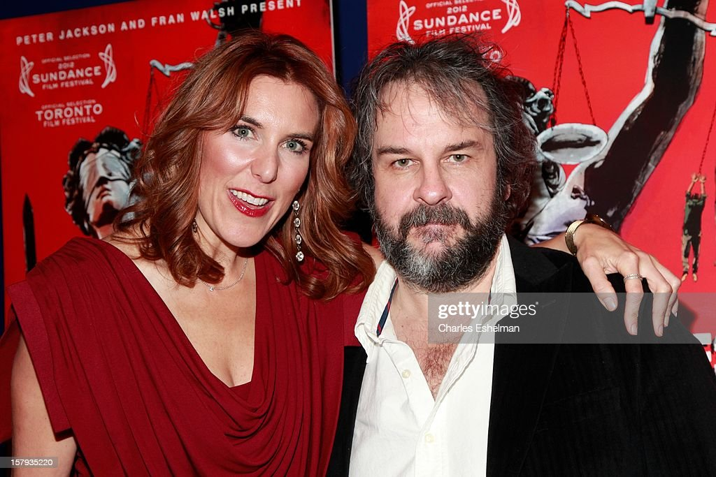 Director Amy Berg and producer Peter Jackson attend the 'West Of Memphis' premiere at Florence Gould Hall on December 7, 2012 in New York City.