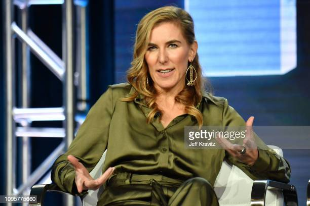 Director Amy Berg speaks onstage during The Case of Adnan Syed panel of the HBO portion of the 2019 Winter TCA on February 8 2019 in Pasadena...