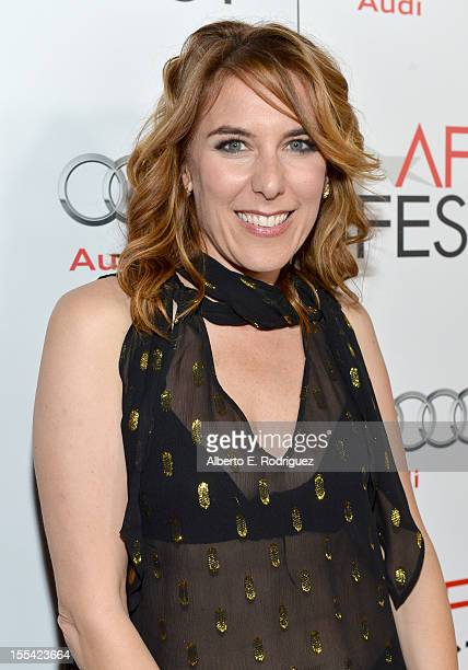 Director Amy Berge arrives at the Holy Motors special screening during the 2012 AFI Fest at Grauman's Chinese Theatre on November 3 2012 in Hollywood...