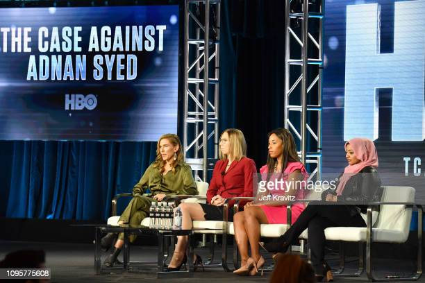 Director Amy BergÊSusan Simpson Asia McClain and Rabia Chaudhry participate in The Case of Adnan Syed panel of the HBO portion of the 2019 Winter TCA...