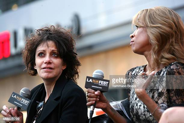 Director Amy Heckerling and actress Stacey Dash attend the Film Independent's PreFestival outdoor screening of 'Clueless' held at LA LIVE on May 6...