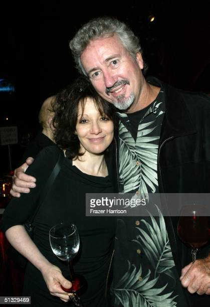 Director Amy Heckerling and guest George Furratt pose at the HBO post Emmy party following the 56th annual Primetime Emmy Awards held at the Pacific...