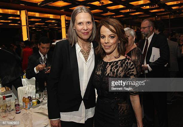 Director Amy Morton and actress Leslie Kritzer attend the 31st Annual Lucille Lortel Awards after party at NYU Skirball Center on May 1 2016 in New...