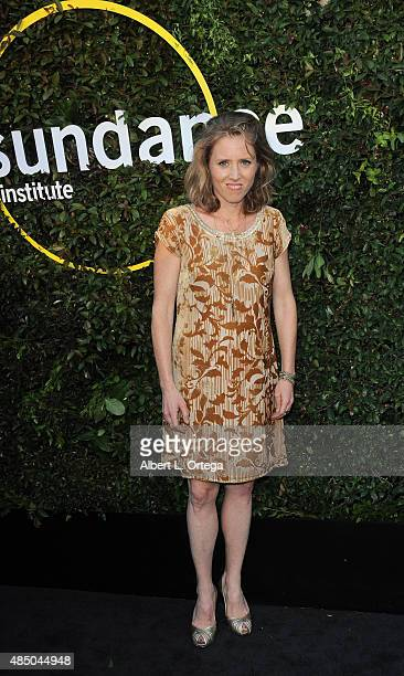 Director Amy Redford arrives for the 2015 Sundance Institute celebration benefit held at 3LABS on June 2 2015 in Culver City California