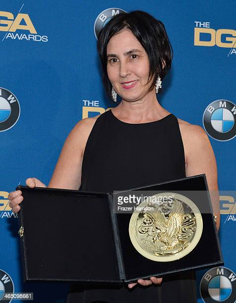 Director Amy Schatz winner of the Outstanding Directorial Achievement in Children's Programs for An Apology to Elephants poses in the press room...