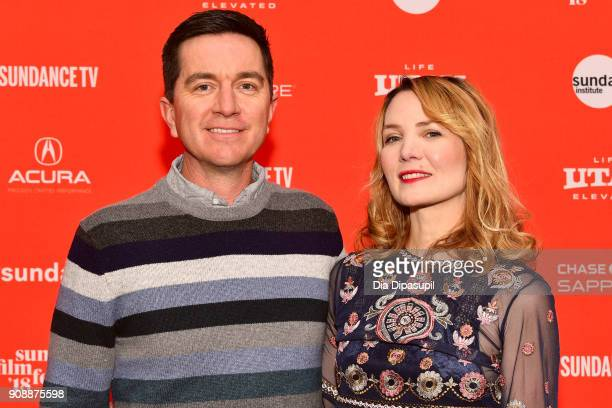 Director Amy Scott and Chris Scott attend the 'Hal' Premiere during the 2018 Sundance Film Festival at The Marc Theatre on January 22 2018 in Park...