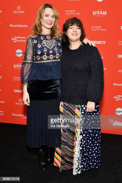 Director Amy Scott and Heather McIntosh attend the 'Hal' Premiere during the 2018 Sundance Film Festival at The Marc Theatre on January 22 2018 in...