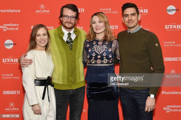 Director Amy Scott and producers Christine Beebe Brian Morrow and Jonathan Lynch attend the 'Hal' Premiere during the 2018 Sundance Film Festival at...