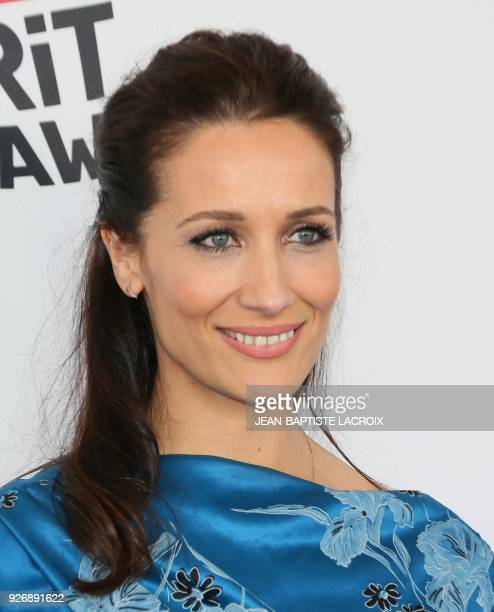 Director Ana Asensio arrives for the 2018 Film Independent Spirit Awards in Santa Monica California on March 3 2018 / AFP PHOTO / JeanBaptiste LACROIX