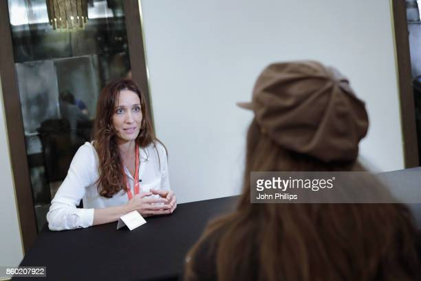 Director Ana Asensio is interviewed during a FilmMaker Afternoon Tea at the 61st BFI London Film Festival on October 11 2017 in London England