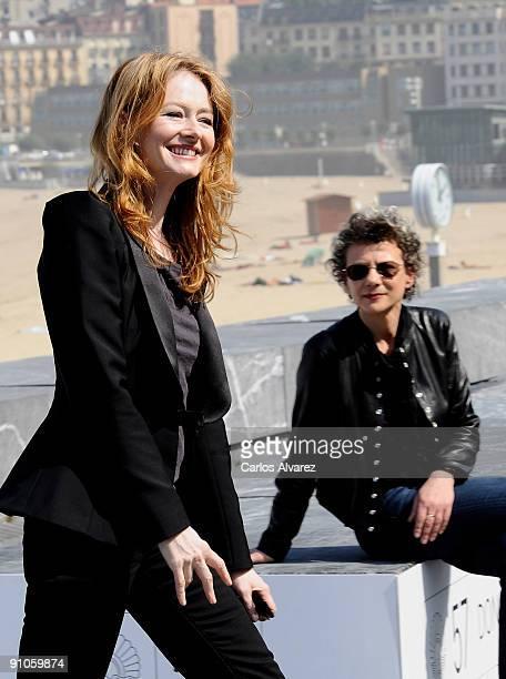 Director Ana Kokkinos and actress Miranda Otto attend 'Blessed' photocall at the Kursaal Palace during the 57th San Sebastian International Film...