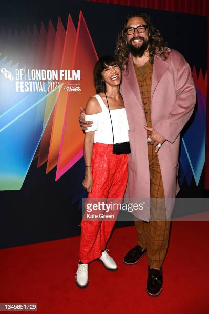 """Director Ana Lily Amirpour and Jason Mamoa attends the """"Mona Lisa And The Blood Moon"""" UK Premeire during the 65th BFI London Film Festival at the..."""