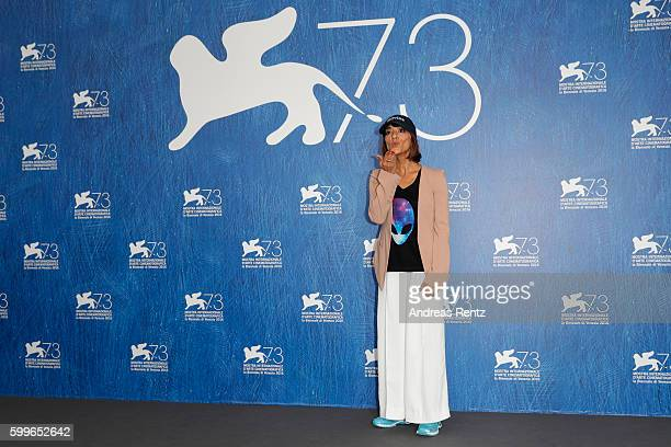 Director Ana Lily Amirpour attends a photocall for 'The Bad Batch' during the 73rd Venice Film Festival at on September 6 2016 in Venice Italy