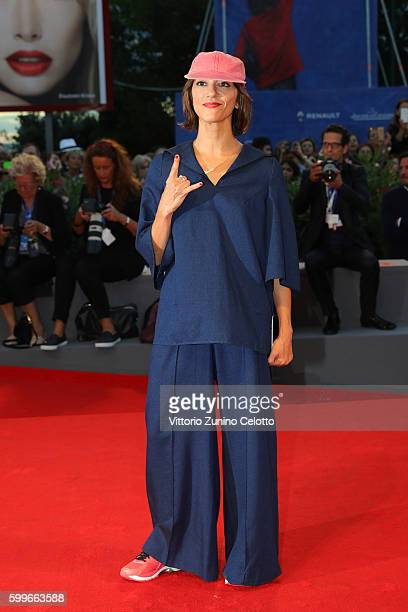 Director Ana Lily Amirpour attends the premiere of 'The Bad Batch' during the 73rd Venice Film Festival at Sala Grande on September 6 2016 in Venice...