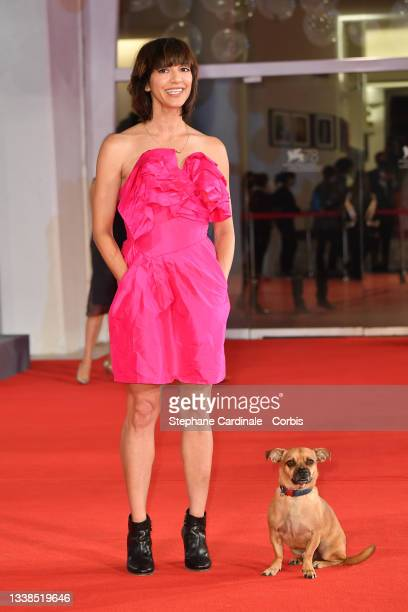 """Director Ana Lily Amirpour attends the red carpet of the movie """"Mona Lisa And The Blood Moon"""" during the 78th Venice International Film Festival on..."""