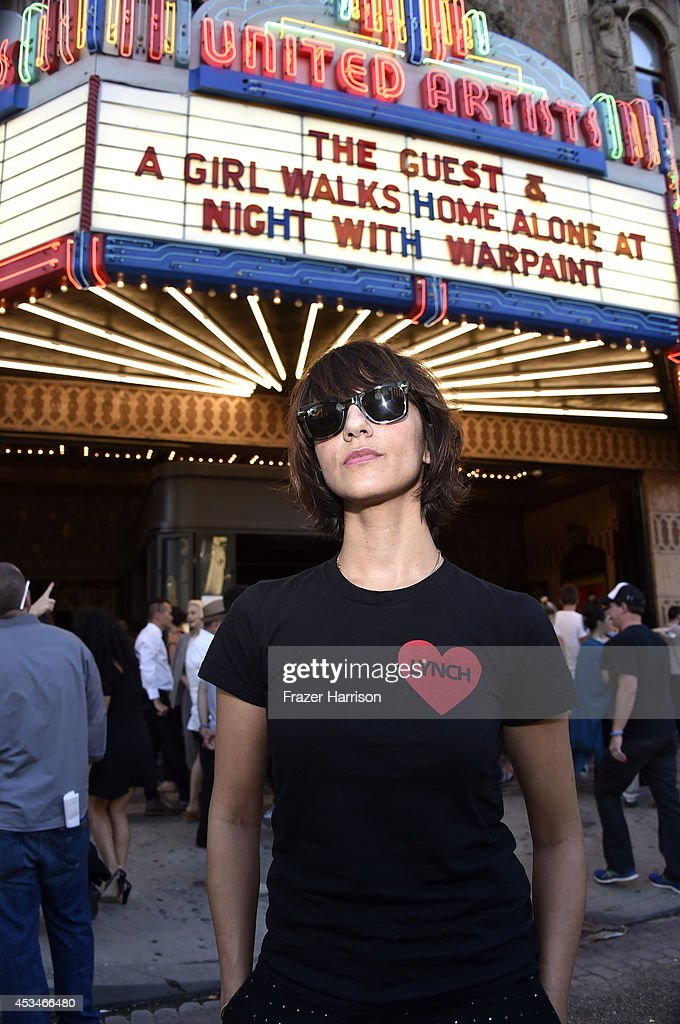 Director Ana Lily Amirpour attends the screening of 'A Girl Walks Home Alone at Night' with Warpaint in concert during Sundance NEXT FEST at The Theatre at Ace Hotel on August 10, 2014 in Los Angeles, California.