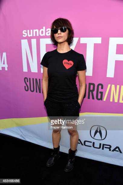 Director Ana Lily Amirpour attends the screening of A Girl Walks Home Alone at Night with Warpaint in concert during Sundance NEXT FEST at The...
