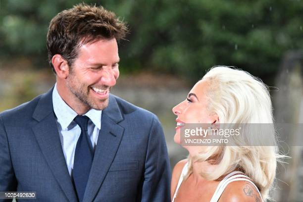 director and actor Bradley Cooper and singer and actress Lady Gaga arrive at the Excelsior Hotel on August 31 2018 during the 75th Venice Film...