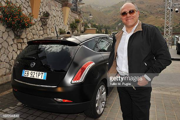 Director and actor Carlo Verdone arrives at the Taormina Film Fest 2010 on June 18 2010 in Taormina Italy
