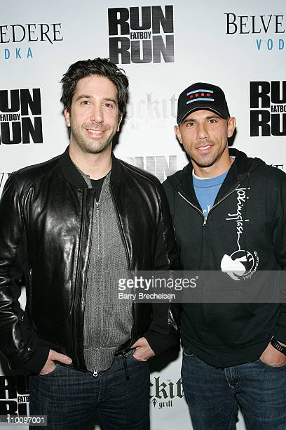 Director and actor David Schwimmer and Billy Dec at the Run Fatboy Run Chicago Premiere After Party Presented by Belvedere at Rockit on March 8, 2008...