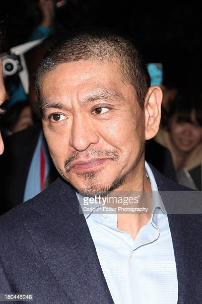 "Director and actor Hitoshi Matsumoto arrives at the ""R100' Premiere during the 2013 Toronto International Film Festival at Ryerson Theatre on..."
