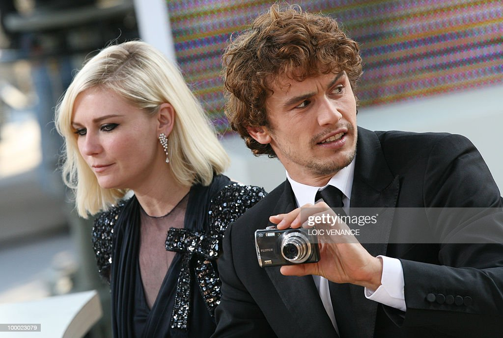 US director and actor James Franco and US actress Kirsten Dunst attend the Canal+ TV show 'Le Grand Journal' during the 63rd Cannes Film Festival on May 20, 2010 in Cannes.