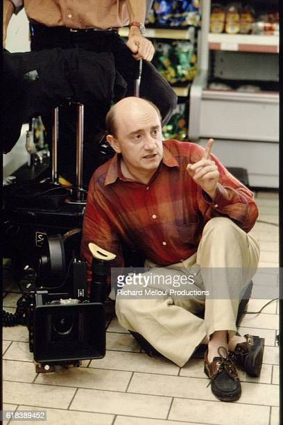 Director and actor Michel Blanc on the set of his 1994 film Grosse Fatigue released in the US as Dead Tired